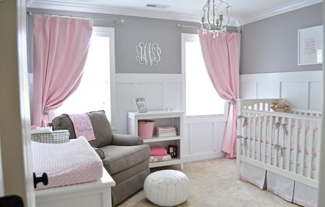 Idee Deco Chambre Bebe Fille Gris Rose