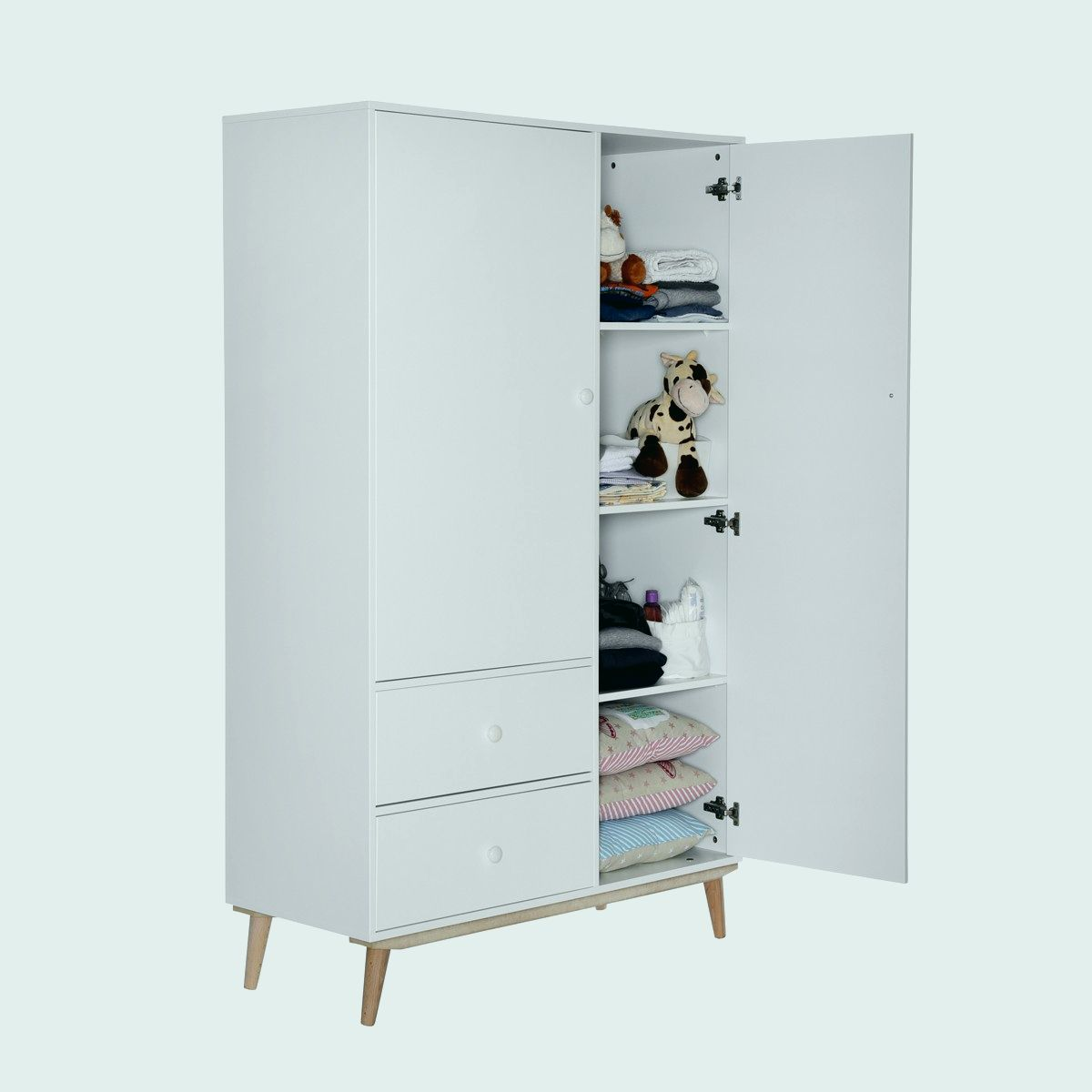 armoire bebe blanche b b doudou univers. Black Bedroom Furniture Sets. Home Design Ideas