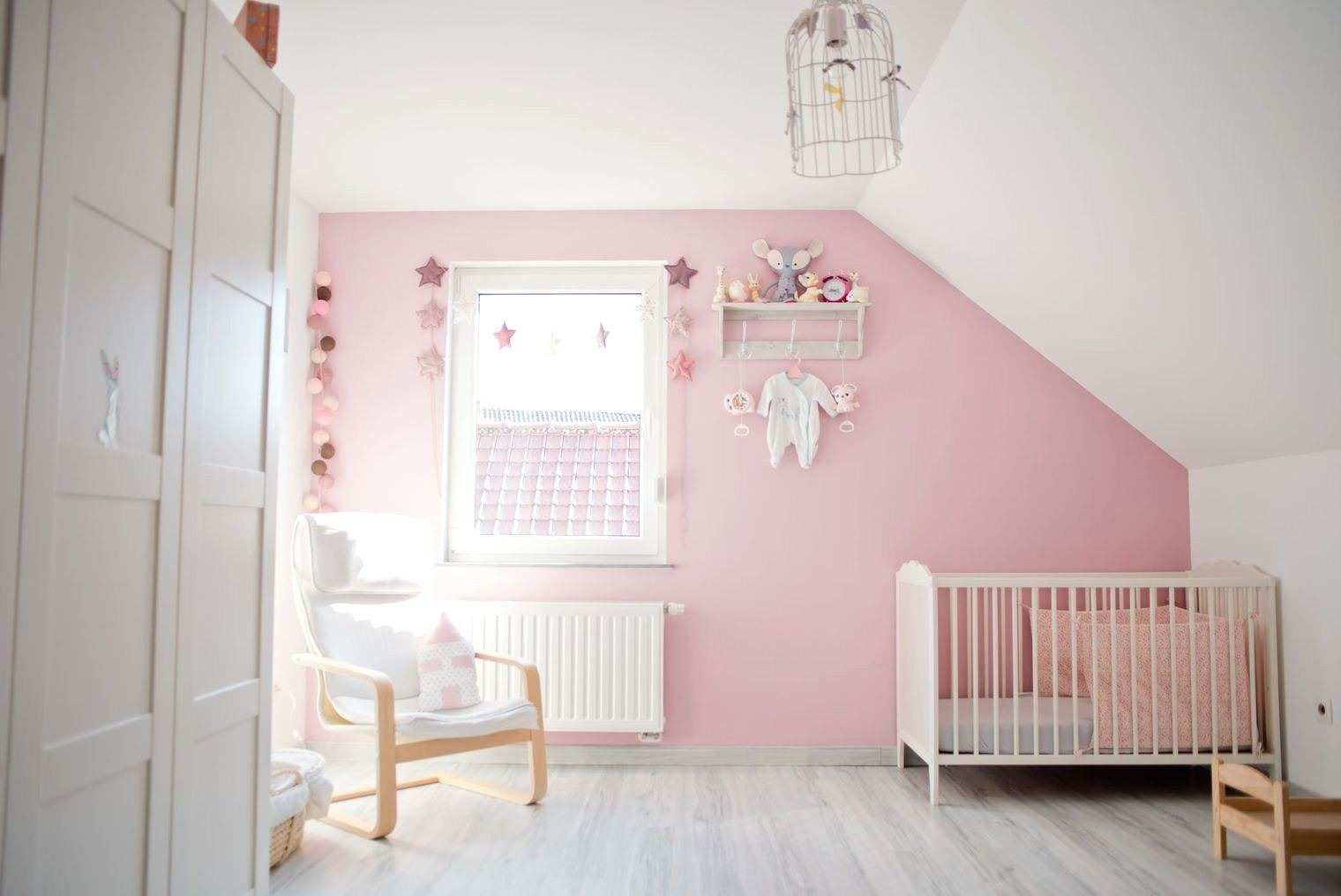 Chambre Bebe Fille Rose Gris Blanc