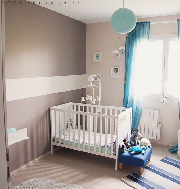 Chambre bebe complete taupe