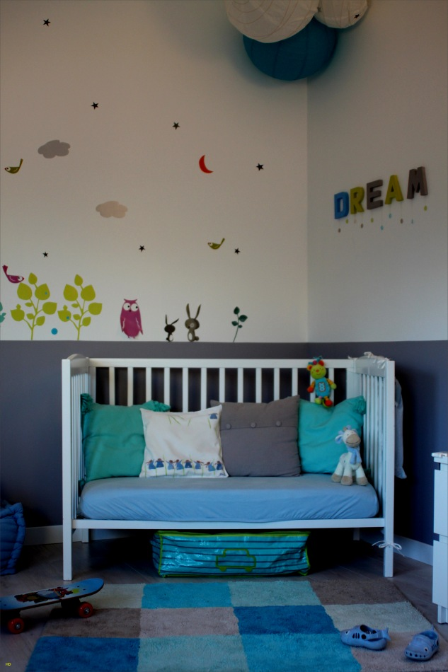 Deco chambre bebe taupe turquoise