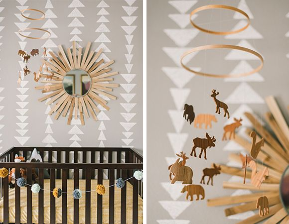 Chambre bebe animaux foret