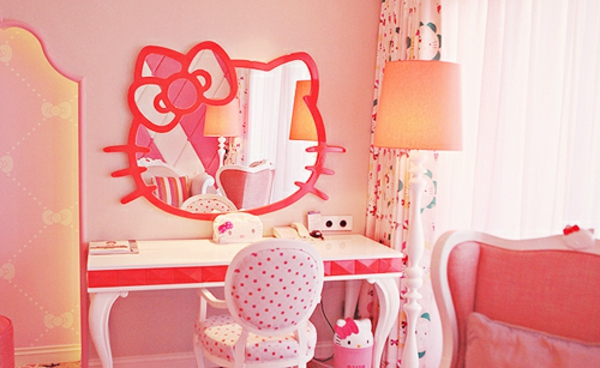 Deco chambre bebe fille hello kitty