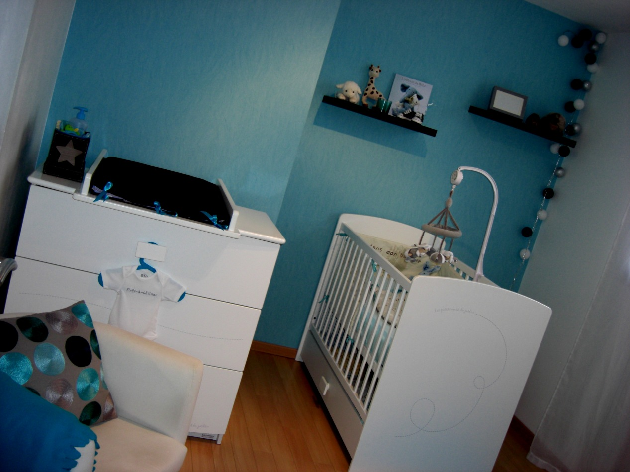 Charmant Chambre Bebe Deco Turquoise