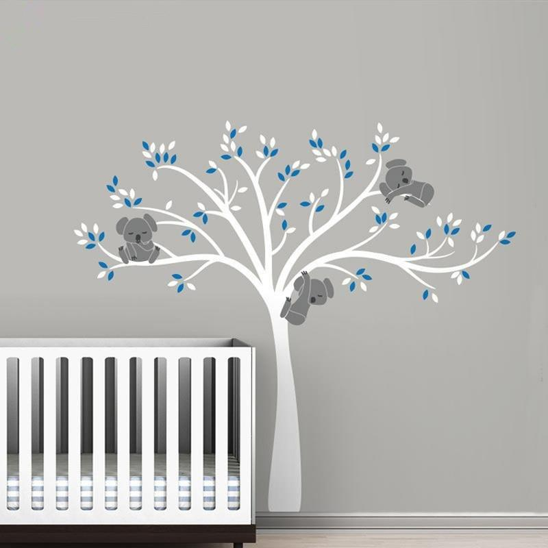 sticker chambre bebe bleu b b doudou univers. Black Bedroom Furniture Sets. Home Design Ideas