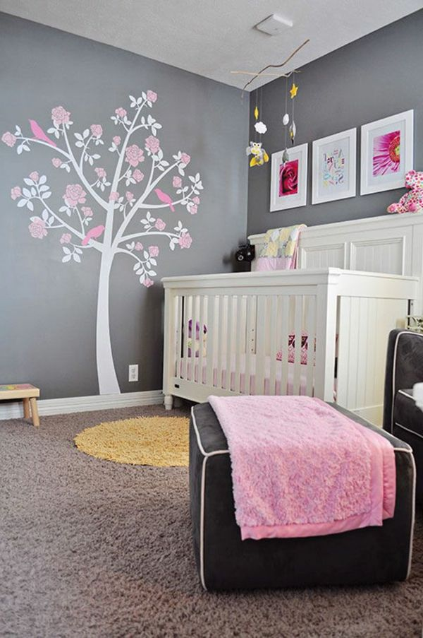 Idee chambre bebe fille rose