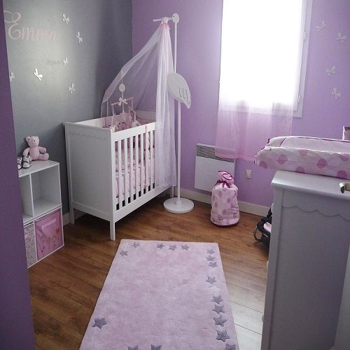 Chambre bebe taupe parme