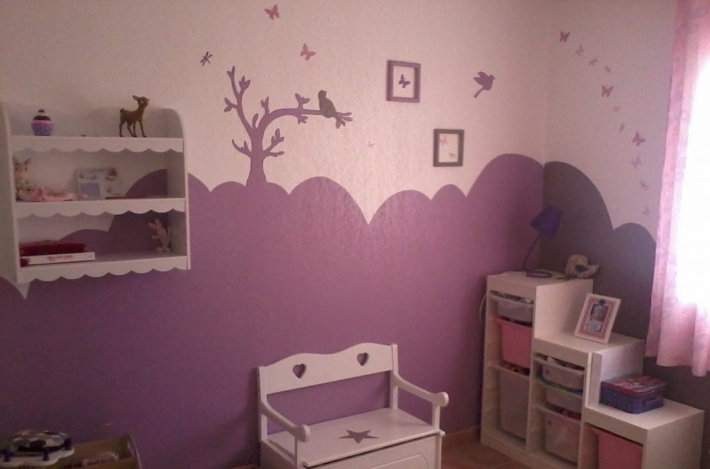 Superieur Idee Deco Chambre Bebe Prune