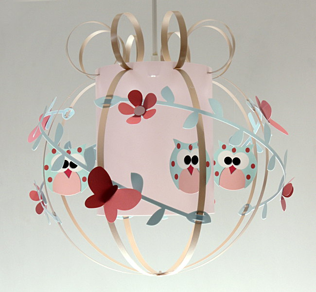 Lampe suspension chambre bébé fille