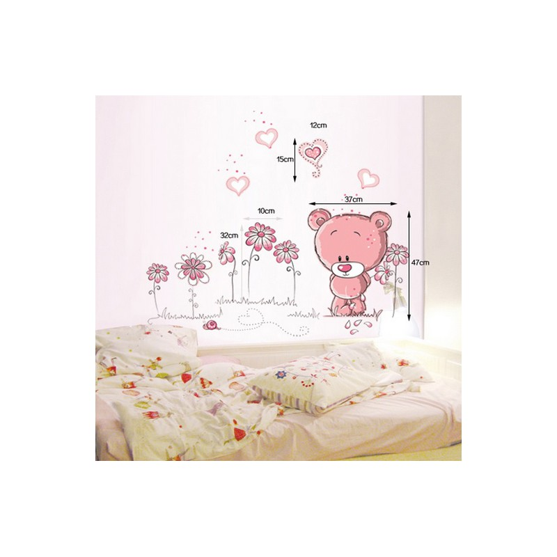 stickers ours chambre b b b b doudou univers. Black Bedroom Furniture Sets. Home Design Ideas